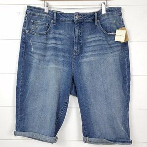 NWT Lucky Brand Jean Shorts Bermuda Plus Size 24W
